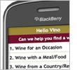 Hello Vino on a Blackberry
